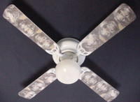 """New GREY TIMBER WOLF WOLVES  Ceiling Fan 42"""""""