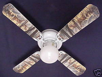 New DEER BUCK DOE HUNTING Ceiling Fan 42""