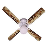 New BEAR MOOSE DEER RUSTIC CABIN LODGE Ceiling Fan 42""