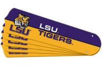"New NCAA LSU TIGERS 42"" Ceiling Fan Blade Set"
