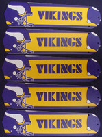 "New NFL MINNESOTA VIKINGS 52"" Ceiling Fan BLADES ONLY"