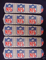 "New NFL NATIONAL FOOTBALL LEAGUE 52"" Ceiling Fan BLADES ONLY"