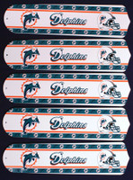 "New NFL MIAMI DOLPHINS 52"" Ceiling Fan BLADES ONLY"