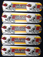 "New NFL ARIZONA CARDINALS 52"" Ceiling Fan BLADES ONLY"