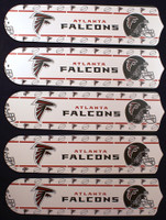 "New NFL ATLANTA FALCONS 52"" Ceiling Fan BLADES ONLY"