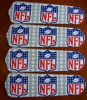 "New NFL NATIONAL FOOTBALL LEAGUE 42"" Ceiling Fan BLADES ONLY"