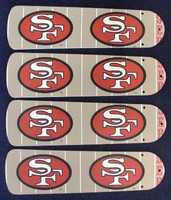 "New NFL SAN FRANCISCO 49ERS 42"" Ceiling Fan BLADES ONLY"