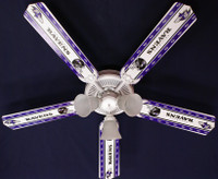New NFL BALTIMORE RAVENS FOOTBALL Ceiling Fan 52""