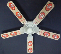New NFL SAN FRANCISCO 49ERS FOOTBALL Ceiling Fan 52""