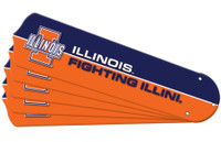 "New NCAA ILLINOIS FIGHTING ILLINI 42"" Ceiling Fan Blade Set"