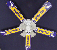 New NFL MINNESOTA VIKINGS FOOTBALL Ceiling Fan 52""