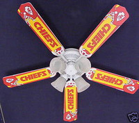 New NFL KANSAS CITY CHIEFS FOOTBALL Ceiling Fan 52""