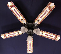 New NFL WASHINGTON REDSKINS FOOTBALL Ceiling Fan 52""