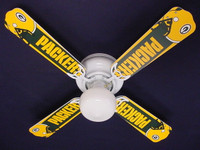 "New NFL GREEN BAY PACKERS FOOTBALL Ceiling Fan 42"""