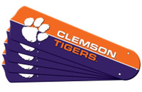 "New NCAA CLEMSON  TIGERS 42"" Ceiling Fan Blade Set"