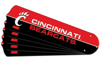 "New NCAA CINCINNATI BEARCATS 42"" Ceiling Fan Blade Set"