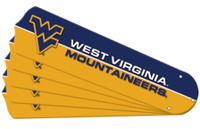 "New NCAA WEST VIRGINIA MOUNTAINEERS 52"" Ceiling Fan Blade Set"