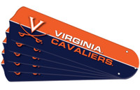 "New NCAA VIRGINIA CAVALIERS 52"" Ceiling Fan Blade Set"
