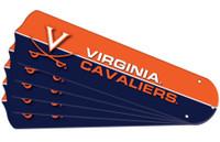 "New NCAA VIRGINIA CAVALIERS 52"" Ceiling Fan Blade Set"