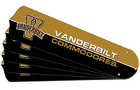 "New NCAA VANDERBILT COMMODORES 52"" Ceiling Fan Blade Set"