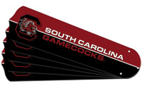 "New NCAA USC SOUTH CAROLINA GAMECOCKS 52"" Ceiling Fan Blade Set"