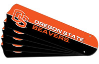 "New NCAA OREGON STATE BEAVERS 52"" Ceiling Fan Blade Set"