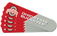 "New NCAA OHIO STATE BUCKEYES 52"" Ceiling Fan Blade Set"