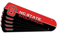"New NCAA NC STATE WOLFPACK 52"" Ceiling Fan Blade Set"