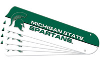 "New NCAA MICHIGAN STATE SPARTANS 52"" Ceiling Fan Blade Set"