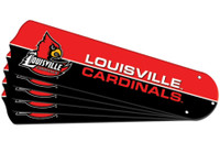 "New NCAA LOUISVILLE CARDINALS 52"" Ceiling Fan Blade Set"