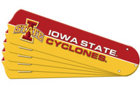 "New NCAA IOWA STATE CYCLONES 52"" Ceiling Fan Blade Set"