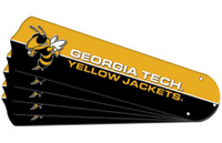 "New NCAA GEORGIA TECH YELLOW JACKETS 52"" Ceiling Fan Blade Set"