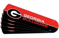"New NCAA GEORGIA BULLDOGS 52"" Ceiling Fan Blade Set"