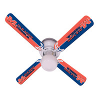 "New NCAA OLE MISS MISSISSIPPI REBELS 42"" Ceiling Fan"