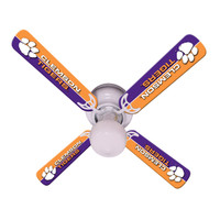 "New NCAA CLEMSON  TIGERS 42"" Ceiling Fan"