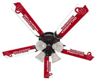 "New NCAA OKLAHOMA SOONERS 52"" Ceiling Fan"