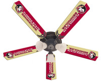 "New NCAA FSU FLORIDA STATE SEMINOLES 52"" Ceiling Fan"