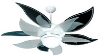 "New CRAFTMADE BLOOM 52"" Ceiling Fan with BLACK BLADES"