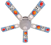 New KIDS PLAY BALL Ceiling Fan 52""