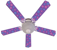 New KIDS PURPLE PARTY POPS Ceiling Fan 52""