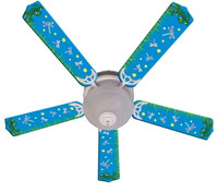 New KIDS DRAGONFLIES & FIREFLIES Ceiling Fan 52""