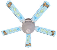 New BABY NURSERY TOYS BLOCKS BLUE Ceiling Fan 52""