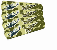 "New FREEDOM CAMO MILITARY 42"" Ceiling Fan BLADES ONLY"
