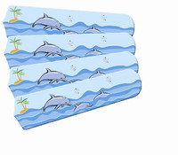 """New KIDS PLAYFUL DOLPHINS 42"""" Ceiling Fan BLADES ONLY"""