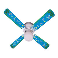 New KIDS DRAGONFLIES & FIREFLIES Ceiling Fan 42""