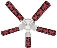 New NHL WASHINGTON CAPITALS HOCKEY Ceiling Fan 52""