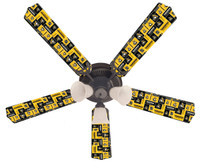 New NHL PITTSBURGH PENGUINS HOCKEY Ceiling Fan 52""