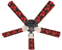 New NHL CHICAGO BLACKHAWKS HOCKEY Ceiling Fan 52""