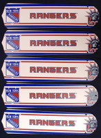 "New NHL NEW YORK RANGERS 52"" Ceiling Fan BLADES ONLY"