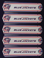 "New NHL COLUM. BLUE JACKETS 52"" Ceiling Fan BLADES ONLY"